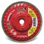 Compact Trimmable Flap Discs with Hub, USA Made