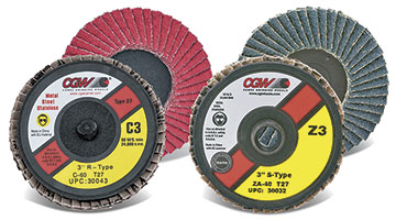 "2"" - 3"" Mini Flap Discs Z3(R) Zirconia & C3 Ceramic"